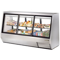 True TDBD-96-6 96 inch Six Door Double Duty Refrigerated Deli Case - 63.5 Cu. Ft.