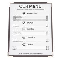 8 1/2 inch x 11 inch American Metalcraft Securit One Pocket Menu Holder   - 3/Pack