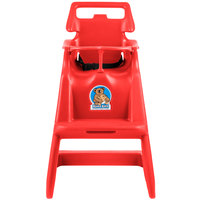 Koala Kare KB103-03 Red Assembled Classic High Chair with Wheels