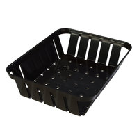 Carlisle 4403103 Stackable Black Munchie Basket 10 3/8 inch x 8 inch - 12/Case