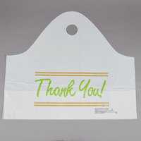 Plastic Thank You 24 inch x 11 inch x 20 inch Take Out Bag with Wave Handle - 250/Box
