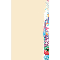 8 1/2 inch x 14 inch Menu Paper Right Insert - Pasta Themed Wine Design - 100/Pack