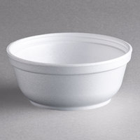 Dart 8B20 8 oz. Insulated White Foam Bowl - 50/Pack