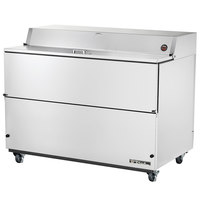 True TMC-58-S-SS 58 inch One Sided Milk Cooler with Stainless Steel Interior and Exterior