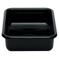 Cambro 1520CBPF110 20 inch x 15 inch x 5 inch Black Polyethylene Plastic Bus Box with Flat Bottom