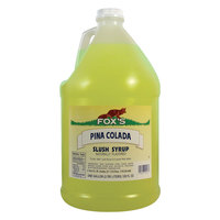 Fox's Pina Colada Slush Syrup - (4) 1 Gallon Containers / Case