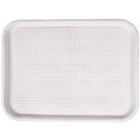Huhtamaki Chinet 20803 Savaday 12 inch x 16 inch White Molded Fiber / Pulp Rectangular Tray - 200 / Case