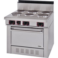 Garland SS686 Sentry Series 6 Sealed Burner Electric Restaurant Range with Standard Oven - 208V, 3 Phase, 19 kW