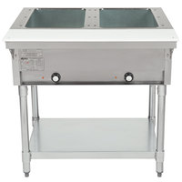 Eagle Group DHT2 Open Well Two Pan Electric Hot Food Table - 120V