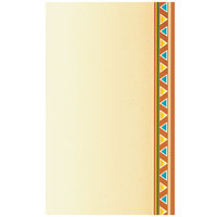 8 1/2 inch x 14 inch Menu Paper - Southwest Themed Fiesta Border Design Right Insert - 100/Pack
