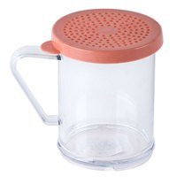 Tablecraft 166C 10 oz. Polycarbonate Shaker with Rose Lid for Medium Ground Product