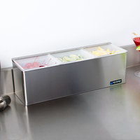 San Jamar B6183INL EZ Chill Condiment Center with 3 Trays