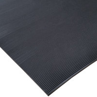 Cactus Mat 1050R-C3 ASTM 3' Wide Corrugated Black Switchboard Runner Mat - 1/4 inch Thick