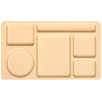 Carlisle 61525 Space Saver 8 3/4 inch x 15 inch Tan ABS Plastic 6 Compartment Tray