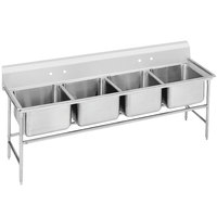 Advance Tabco 94-64-72 Spec Line Four Compartment Pot Sink - 89 inch
