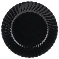 WNA Comet Classicware EcoSense 9 inch Biodegradable Black Plastic Plate - 18/Pack