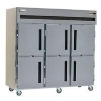 Delfield SAR3-SH 80 Cu. Ft. Three Section Solid Half Door Reach In Refrigerator - Specification Line
