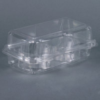 2 Compartment Clear Hinged Cupcake / Muffin Container - 240 / Case