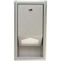 Koala Kare KB134-SSLD Stainless Steel Recess Mount Sanitary Changing Table Liner Dispenser