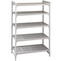 Cambro CPU183664V5480 Camshelving Premium Shelving Unit with 5 Vented Shelves 18 inch x 36 inch x 64 inch