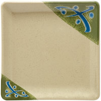 GET 252-18-TD Japanese Traditional 7 inch Square Plate - 12/Case