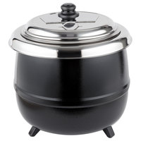 Avantco S600 14 Qt. Round Countertop Black Food / Soup Kettle Warmer - 110V, 600W