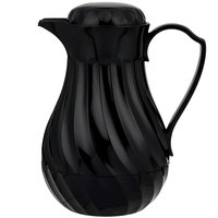 Vollrath 52170 SwirlServe 1.24 Liter Black Hot-N-Cold Beverage Server