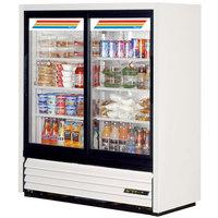 True GDM-41SL-54-LD 47 inch White Convenience Store Glass Door Merchandiser - 17 Cu. Ft.