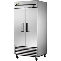 True T-35F 40 inch Two Section Solid Door Reach in Freezer - 35 cu. ft.
