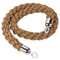 American Metalcraft RSCLRPCHBR 5' Braided Bronze Barrier System Rope with Chrome Ends