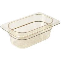 Cambro 92HP150 H-Pan™ 1/9 Size Amber High Heat Plastic Food Pan - 2 1/2 inch Deep