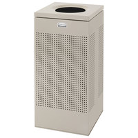 Rubbermaid FGSC14ERBDP Silhouettes Desert Pearl Steel Designer Waste Receptacle - 24 Gallon