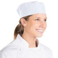 Chef Revival Customizable White Mesh Top Baker's Skull Cap / Pill Box Hat - Large Size
