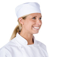 Chef Revival 22 inch-23 1/2 inch White Extra Large Pill Box Chef Hat / Skull Cap