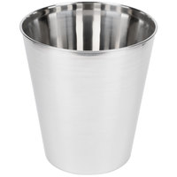 Basic Collection Polished Stainless Steel 9 Qt. Wastebasket