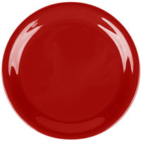 Carlisle 3300805 Sierrus 6 1/2 inch Red Narrow Rim Melamine Pie Plate - 48/Case