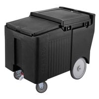 Cambro ICS125LB110 SlidingLid Black Portable Ice Bin - 125 lb. Capacity