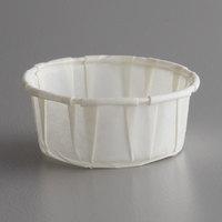 Genpak F050S Harvest Paper .5 oz. Squat Compostable Souffle / Portion Cup - 250/Pack