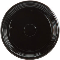 WNA Comet A512PBL Caterline Casuals 12 inch Round Catering Tray - Black   - 5/Pack