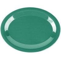 Carlisle 3308209 Sierrus 12 inch x 9 1/4 inch Meadow Green Oval Melamine Platter - 12/Case