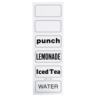 Cambro 13219 Labels for Beverage Dispensers