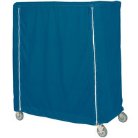 Metro 24X48X62VCMB Mariner Blue Coated Waterproof Vinyl Shelf Cart and Truck Cover with Velcro® Closure 24 inch x 48 inch x 62 inch