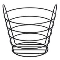 American Metalcraft BWB965 Round Black Wire Basket with Handles - 9 inch x 6 1/2 inch