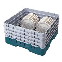 Cambro CRP6345414 Teal Full Size PlateSafe Camrack 4-5 inch