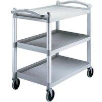 Cambro BC340KD480 Speckled Gray Three Shelf Utility Cart  (Unassembled)  - 40 inch x 21 1/4 inch x 37 1/2 inch