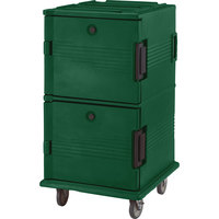 Cambro UPC1600SP519 Green Camcart Ultra Pan Carrier - Front Load Tamper Resistant