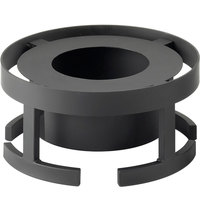 Cal-Mil 1344-7-13 Stackable 12 3/4 inch x 7 1/4 inch Black Chafer Alternative