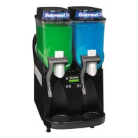 Bunn 34000.0027 Ultra-2 Black Liquid Autofill Slushy / Granita Frozen Drink Machine with 2 Hoppers - 120V