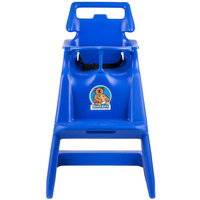Koala Kare KB103-04 Blue Assembled Classic High Chair with Wheels