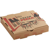 Choice 10 inch x 10 inch x 1 3/4 inch Kraft Corrugated Pizza Box - 50/Case